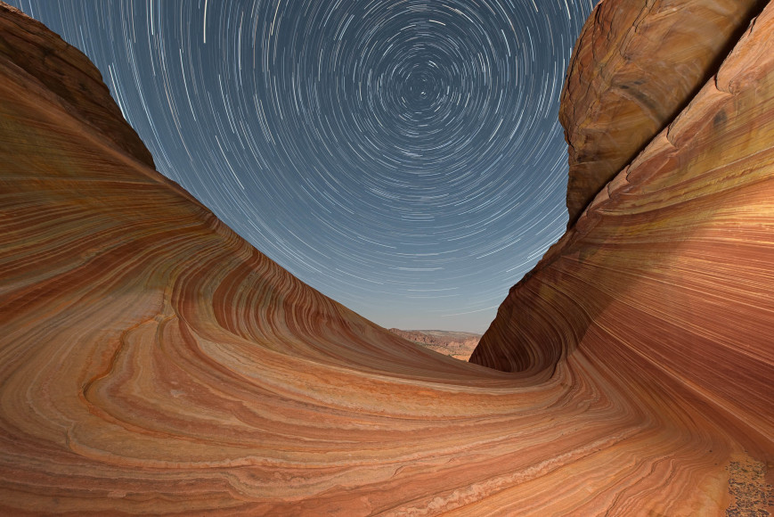 Startrails at The Wave