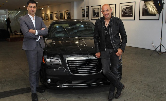 Saad-Chehab-and-John-Varvatos-with-the-2013-Chrysler-300C-John-