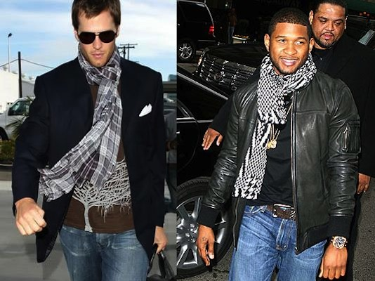 celebrity-men-wearing-scraves-tom-brady-and-usher