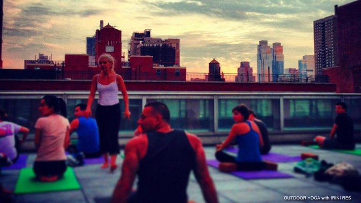 Ailey Outdoor yoga