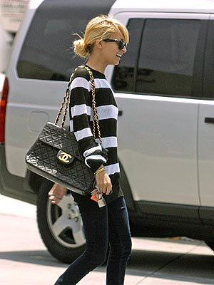 Nicole Richie Chanel Jumbo classic bag